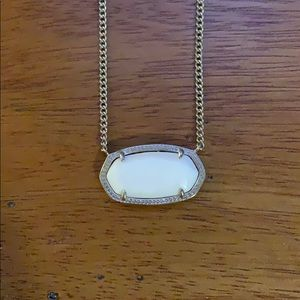 Kendra Scott Elisa Silver Pendant White Necklace